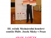 III. ročník Mezinárodní houslové soutěže PhDr. Josefa Micky v Praze